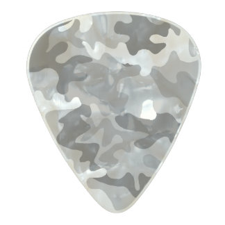 Camouflage design pattern pearl celluloid guitar pick