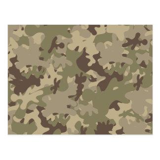 Camouflage design postcard