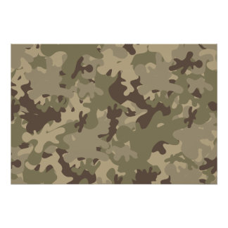 Camouflage design poster