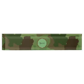 Camouflage Desk Nameplate