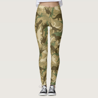 Camouflage Dinosaur Print Leggings