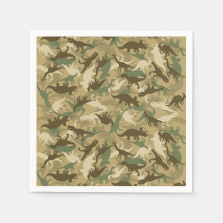 Camouflage Dinosaur Print Napkins