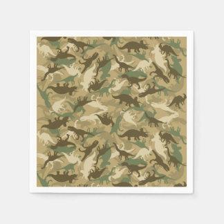 Camouflage Dinosaur Print Napkins Disposable Napkins