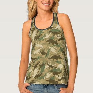 Camouflage Dinosaur Print Racerback Tank Top Women