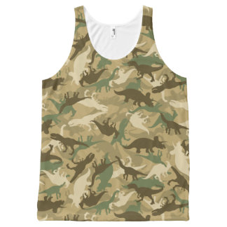 Camouflage Dinosaur Print Tank Top