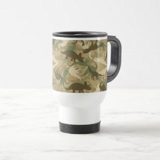 Camouflage Dinosaur Print Travel Mug