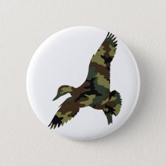 Camouflage Duck 2 Inch Round Button