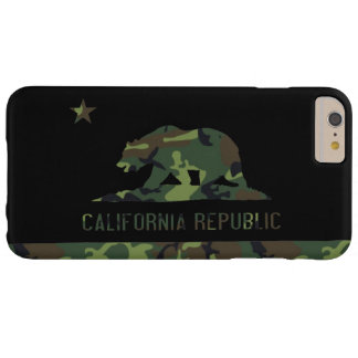Camouflage Flag of California Republic Barely There iPhone 6 Plus Case