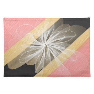 Camouflage Flower with Yellow and Pink Placemat