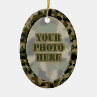 Camouflage Frame Ornament (2-sided)