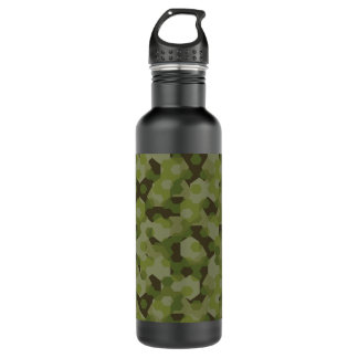 Camouflage geometric hexagon 710 ml water bottle