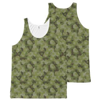 Camouflage geometric hexagon All-Over-Print tank top
