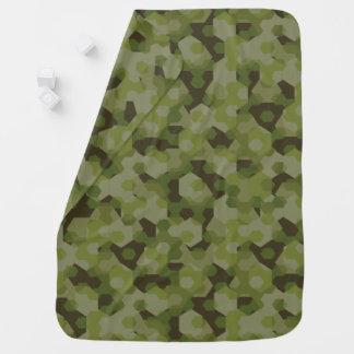 Camouflage geometric hexagon baby blanket