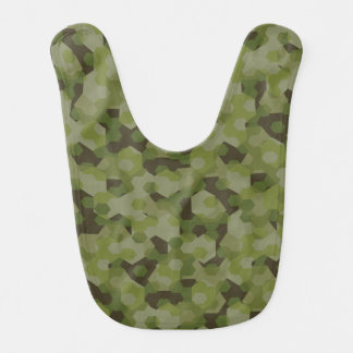 Camouflage geometric hexagon bib