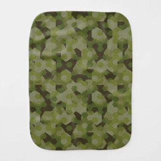 Camouflage geometric hexagon burp cloth