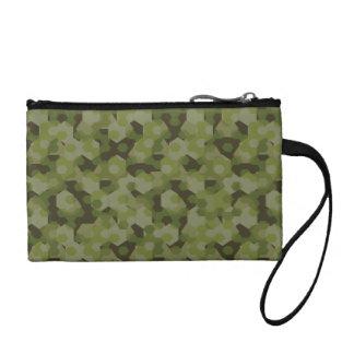 Camouflage geometric hexagon coin purse
