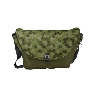Camouflage geometric hexagon commuter bags