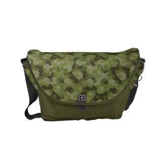Camouflage geometric hexagon commuter bags
