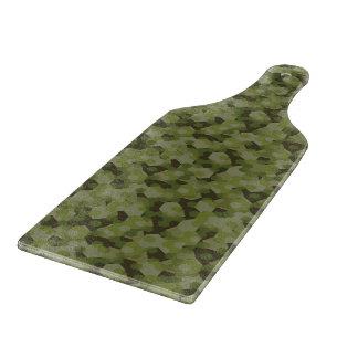 Camouflage geometric hexagon cutting board