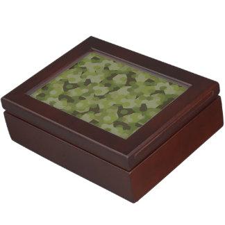 Camouflage geometric hexagon keepsake box