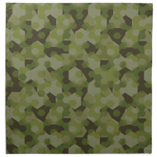 Camouflage geometric hexagon napkin