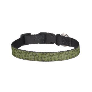 Camouflage geometric hexagon pet collar