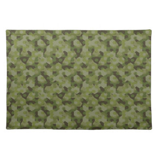 Camouflage geometric hexagon placemat