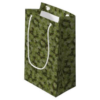Camouflage geometric hexagon small gift bag