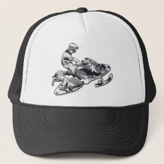 Camouflage Gray Snowmobiler Trucker Hat