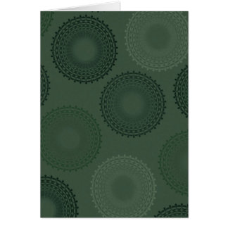 Camouflage Green Lace Doily Card