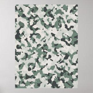 Camouflage Grey Tan Green Black Multi Terrain Poster