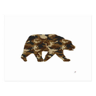 Camouflage Grizzly Bear Silhouette Post Card