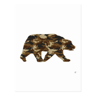 Camouflage Grizzly Bear Silhouette Postcard