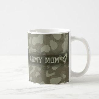 Camouflage Grunge Army Mom Love Basic White Mug