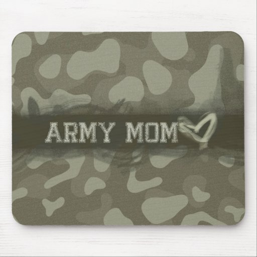Camouflage Grunge Army Mom Love Mousepad