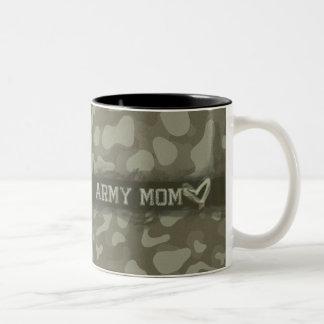 Camouflage Grunge Army Mom Love Coffee Mugs