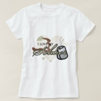 "Camouflage Heart ""I love my Soldier"" T Shirts"