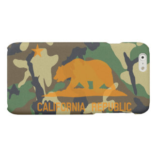 Camouflage Hunter Orange California Republic Flag