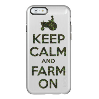 Camouflage Keep Calm and Farm On Incipio Feather® Shine iPhone 6 Case