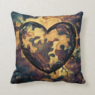 Camouflage Liquid Throw Pillow