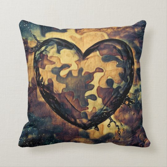 Camouflage Liquid Throw Pillow