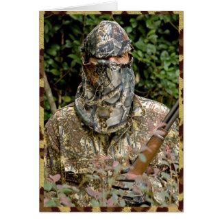 Camouflage man card