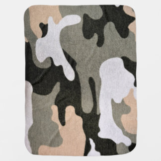 Camouflage, military baby blanket