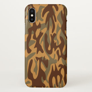 Camouflage military como print army brown green iPhone x case