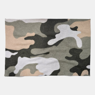 Camouflage, military kitchen towel