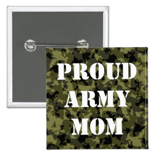 Camouflage military style 2 inch square button