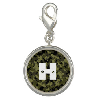 Camouflage military style charm