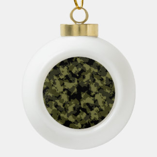 Camouflage military style pattern ceramic ball ornament