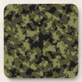 Camouflage military style pattern coaster
