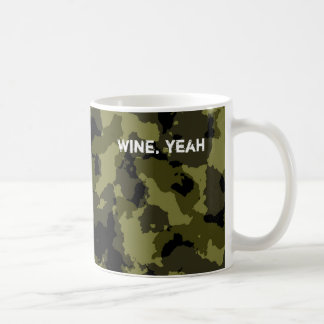 Camouflage military style pattern coffee mug